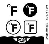 fahrenheit symbol icon | Shutterstock .eps vector #634754195