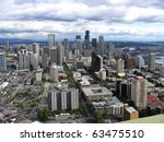 bird's eye view of the seattle... | Shutterstock . vector #63475510