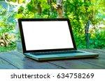 laptop with black screen... | Shutterstock . vector #634758269