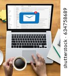 mail communication connection...   Shutterstock . vector #634758689