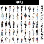 diversity people together mixed ... | Shutterstock . vector #634759331