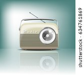 retro radio. vector illustartion | Shutterstock .eps vector #634761869
