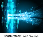 future technology  blue cyber... | Shutterstock .eps vector #634762661
