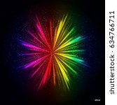 rainbow light rays background ... | Shutterstock .eps vector #634766711