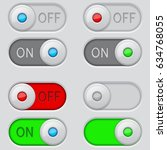 toggle switch buttons. on and... | Shutterstock .eps vector #634768055