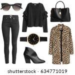 fashionable women's clothing... | Shutterstock . vector #634771019
