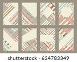 set of 8 trendy geometric... | Shutterstock .eps vector #634783349
