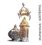 eid mubarak celebration ...   Shutterstock .eps vector #634785941