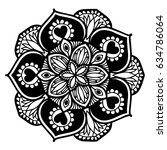 mandalas for coloring book.... | Shutterstock .eps vector #634786064