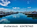 sailing yachts and private...   Shutterstock . vector #634787465