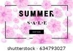summer sale banner template... | Shutterstock .eps vector #634793027