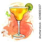 a vector and watercolour... | Shutterstock .eps vector #634800107