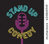 stand up comedy logo  icon.... | Shutterstock .eps vector #634804949