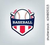 vector of baseball sport team... | Shutterstock .eps vector #634805315
