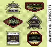 vintage background label style... | Shutterstock .eps vector #634807571