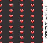 heart seamless pattern... | Shutterstock .eps vector #634812041