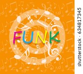 funky music background | Shutterstock . vector #634817345