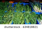 the bunch of variety vegetables ...   Shutterstock . vector #634818821