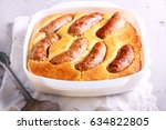 toad in the hole   traditional... | Shutterstock . vector #634822805