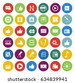 media icons set | Shutterstock .eps vector #634839941
