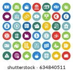 banking icons set | Shutterstock .eps vector #634840511