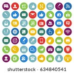 communication icons set | Shutterstock .eps vector #634840541