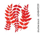 leaves nature logo vector... | Shutterstock .eps vector #634849559