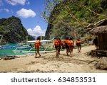 coron  philippines   apr 9 ... | Shutterstock . vector #634853531