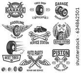 garage  service station  auto... | Shutterstock .eps vector #634862501