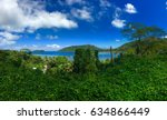 lagoon and beach at huahine ... | Shutterstock . vector #634866449