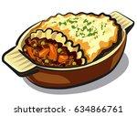 illustration of traditional... | Shutterstock .eps vector #634866761