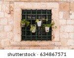 a tiny window garden pictured...   Shutterstock . vector #634867571