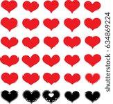 heart icon  raster illustration