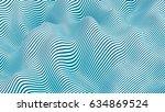 abstract sea pattern  3d... | Shutterstock . vector #634869524
