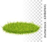 oval carpet of green fresh... | Shutterstock .eps vector #634869641