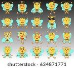 set of emoji emoticons in a...