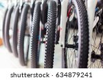 bicycle wheel and tyre | Shutterstock . vector #634879241