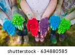 hands   palms of young people... | Shutterstock . vector #634880585