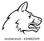 an illustration of a dog head... | Shutterstock .eps vector #634882049