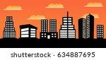 vector illustration of urban... | Shutterstock .eps vector #634887695