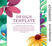 banner design template with... | Shutterstock .eps vector #634890629