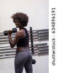 young beautiful african... | Shutterstock . vector #634896191