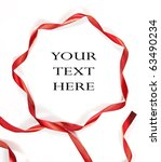 red ribbon on white background... | Shutterstock . vector #63490234