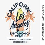 los angeles california summer... | Shutterstock .eps vector #634905791