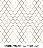flat outline moroccan seamless... | Shutterstock .eps vector #634905869