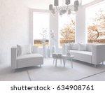 white scandinavian interior... | Shutterstock . vector #634908761