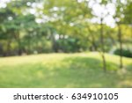 abstract blur city park bokeh... | Shutterstock . vector #634910105