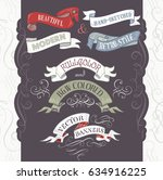 set of vintage banners and... | Shutterstock .eps vector #634916225