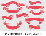 set of vintage banners and... | Shutterstock .eps vector #634916249
