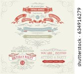 set of vintage banners and...   Shutterstock .eps vector #634916279